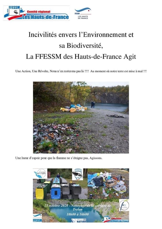 Incivilité envers l'environnement et sa biodiversité : la FFESSM des hats de France agit !